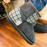 Harris Tweed Boots Grey Large