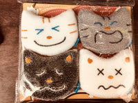 Set of 4pcs - Funny cat faces Sponge