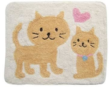Cat and Heart Floor Mat 40cm x 50cm #510837