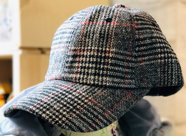 SHES Japan Glen Plaid Wool Cap - White