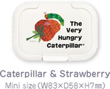 Bitatto ~ The Very Hungry Caterpillar Reusable Baby Wipes Lid - Caterpillar & Strawberry (Mini Size)