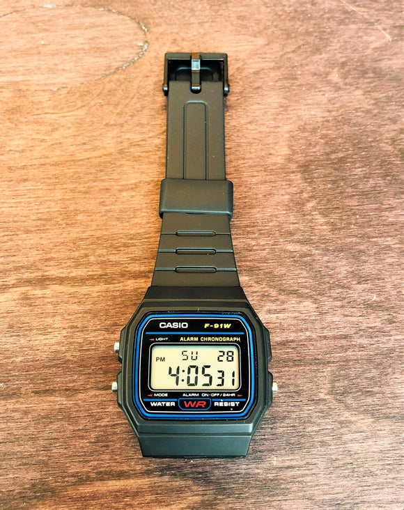 CASIO® Digital Watch F-91W-1JF