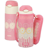 Thermos Vacuum Insulated Straw Bottle 0.4 L Coral Pink FHL-400F CP