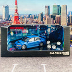 BM CREATIONS JUNIOR 1/64 Mitsubishi Lancer Evolution VII BLUE RHD 64B0088