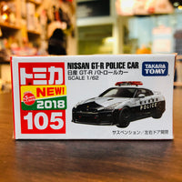 TOMICA NO.105 NISSAN GT-R POLICE CAR Scale 1/62