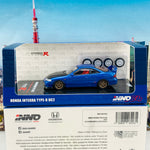 INNO64 1/64 HONDA INTEGRA TYPE-R DC2 Blue W/ Extra wheels and Extra decals IN64-DC2-BLU