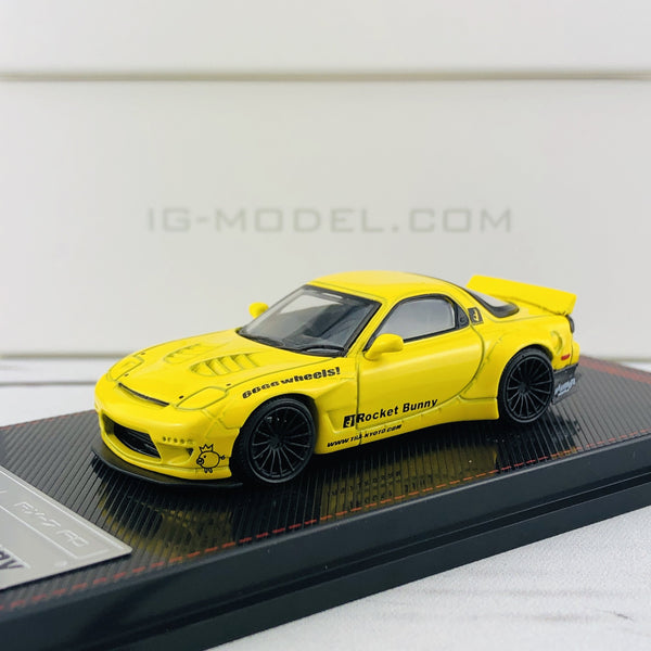 Ignition Model 1/64 Rocket Bunny RX7 (FD35) Yellow 1410