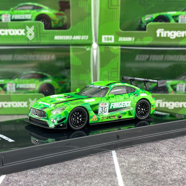 Tarmac Works 1/64 FINGERX x eRACING GP HK Mercedes-AMG GT3 T64-008-eRGP18FX