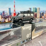 BM CREATIONS JUNIOR 1/64 Mitsubishi Pajero 2nd Generation JUNGLE PACK Matt Black LHD 64B0043