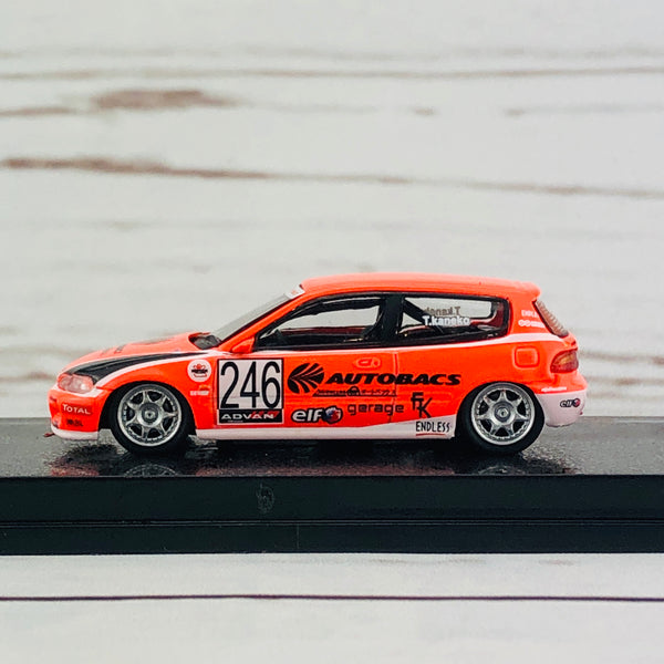 Tarmac Works 1/64 Honda Civic EG6 Motegi Civic Race 2010 #246 AUTOBACS