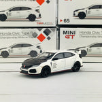 MINI GT 1/64 Honda Civic Type R (FK8) Championship White w/Carbon Kit & TE37 Wheel (RHD) MGT00065-R