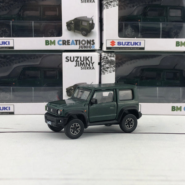 BM Creations 1/64 Suzuki Jimny Sierra (JB74) RHD - Jungle Green (ZZC) 64B0005