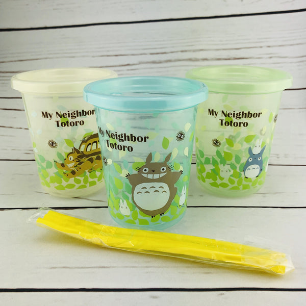SKATER Totoro Tumbler Set with Straw and Lid 320ml / Set of 3 SIH3ST