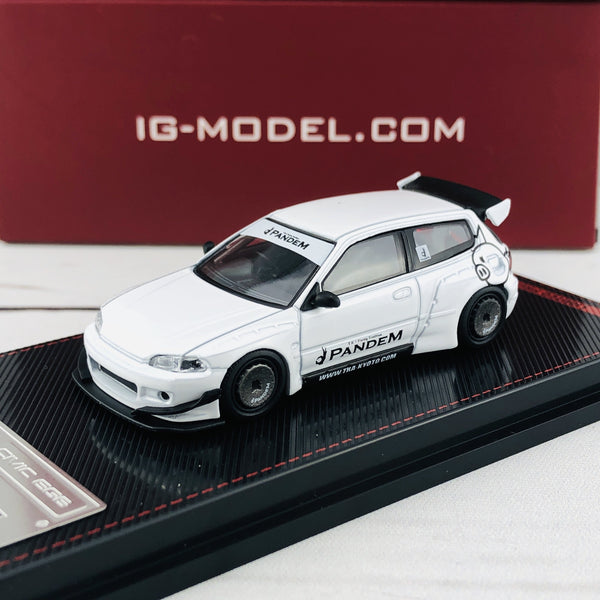 Ignition Model 1/64 Pandem Civic (EG6) White 1415