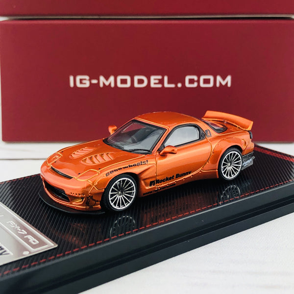 Ignition Model 1/64 Rocket Bunny RX7 (FD35) Orange Metallic 1650