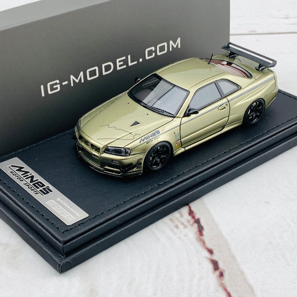 Ignition Model 1/43 Nissan Skyline GTR Mine's R34 Millennium Jade IG1813