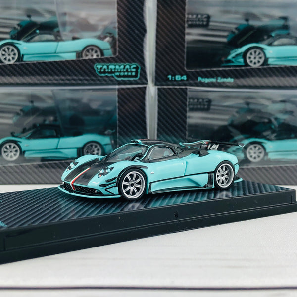 Tarmac Works GLOBAL64 Carbon Edition 1/64 Pagani Zonda Limited to 2064 pcs T64G-006-RSJX