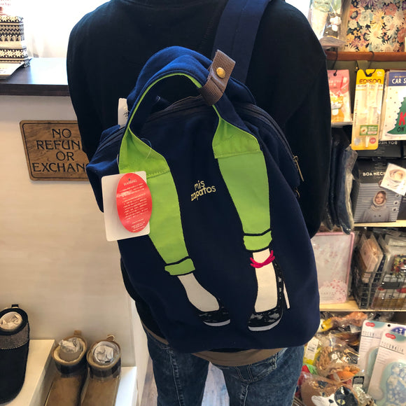 mis zapatos Skinny Pants 2-Way Backpack - Navy