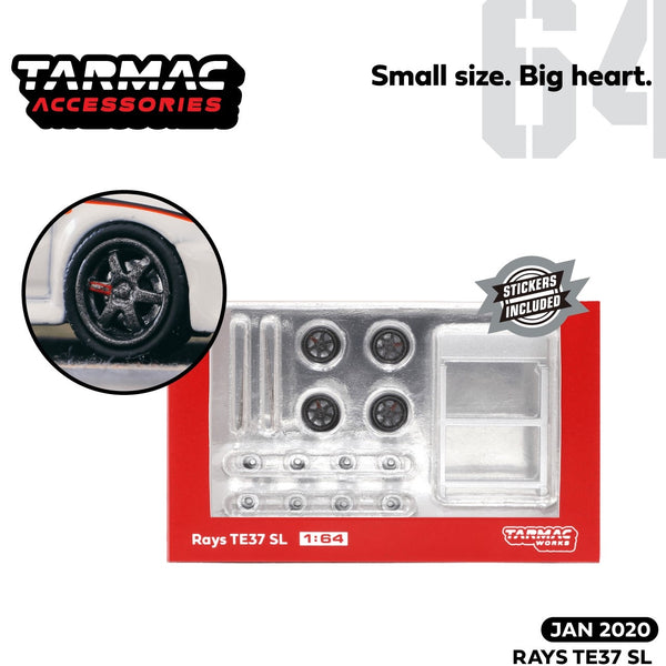 PREORDER Tarmac Works 1/64 Accessories Rays TE37 Pressed Graphite T64W-002-PG (Release Date : Jan 2020)