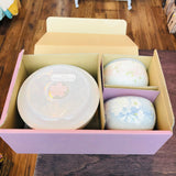 Uno Chiyo Porcelain Bowl with Lid set of 3 pcs by Aito Japan 272-686