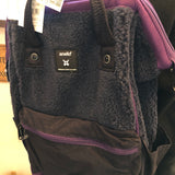 anello® Faux Fur Backpack Navy Blue