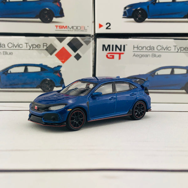 MINI GT 1/64 Honda Civic Type R (FK8) Aegean Blue (RHD) MGT00002-R