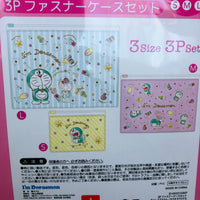 I'm Doraemon Fastener Case 3P Pastel Color Set ID-5533103KP