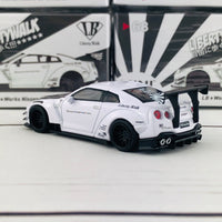 MINI GT 1/64 LB★WORKS Nissan GT-R R35 Type 2 Rear Wing ver 3 White RHD MGT00068-R