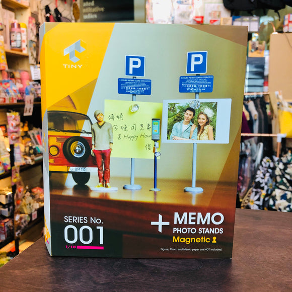 Tiny 1/18 001 2 Hours Meters Magnetic Memo Photo Stands 兩小時泊車路牌及咪錶套裝