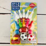 Iwako Japanese Eraser Set - Sport Set ER-BRI028 Made in Japan