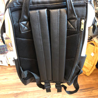 anello® Japan Synthetic Leather Mouthpiece Backpack - Aobori Black AT-B1211