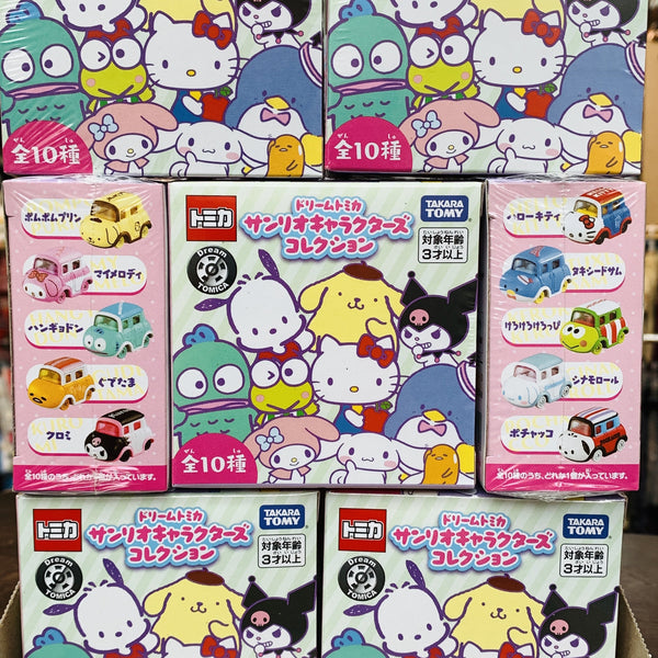 Dream TOMICA SANRIO Characters Collection Blind Box (ONE random character per blind box)