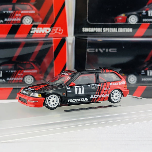 INNO HONDA CIVIC EF9 #77 Advan - Kanjo Racer (Singapore Special Edition) IN64-EF9-ADSGS