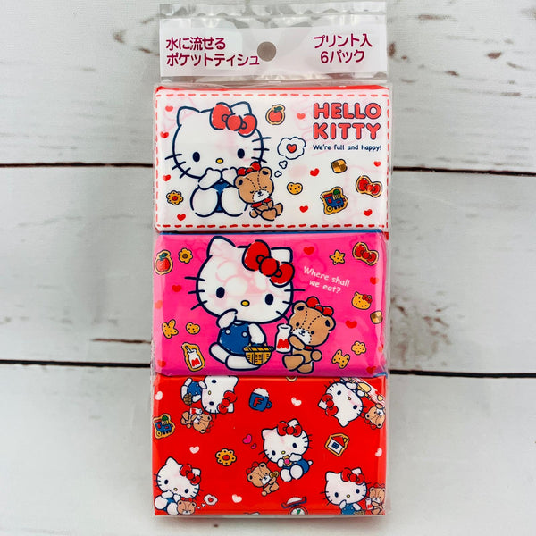 Hayashi Hello Kitty Pocket Size Tissue x 6 Packs