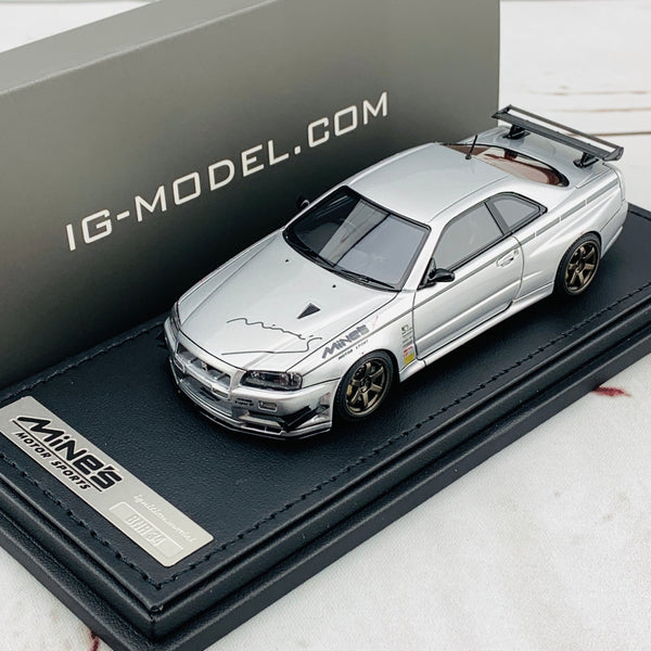 Ignition Model 1/43 Nissan Skyline GTR Mine's R34 Silver IG1816