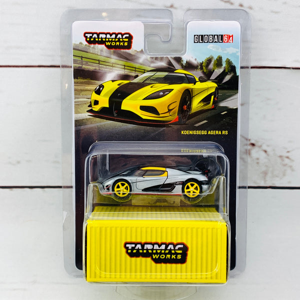 """CHASE CAR"" Tarmac Works 1/64 Global Collection Koenigsegg Agera RS Yellow T64G-005-ML"
