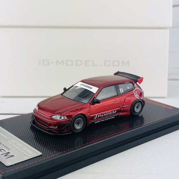Ignition Model 1/64 Pandem Civic (EG6) Red Metallic 1414