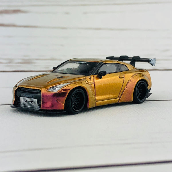 MINI GT LIBERTYWALK LB★WORKS Nissan GTR (R35) Magic Bronze RHD MGT00033-R