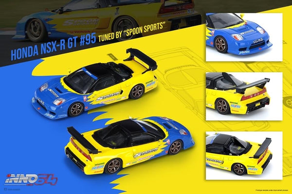 PREORDER INNO64 HONDA NSX-R GT #95 Tuned by SPOON SPORTS IN64-NSXGT-SP (Approx. Release Date : June 2020)