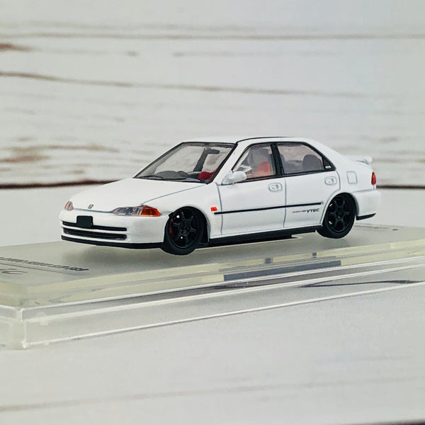INNO64 HONDA CIVIC FERIO EG9 WHITE with Customizable Stickers and 1 set of wheel
