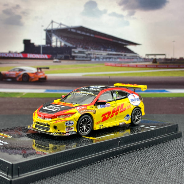 Tarmac Works 1/64 Honda Civic Type R FK8 TCR WTCR Race of Macau 2018 Tom Coronel T64-029-18WTCR09