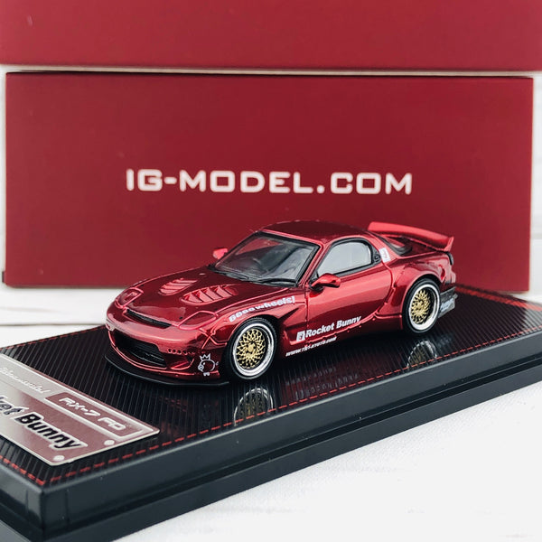 Ignition Model 1/64 Rocket Bunny RX7 (FD35) Red Metallic 1407