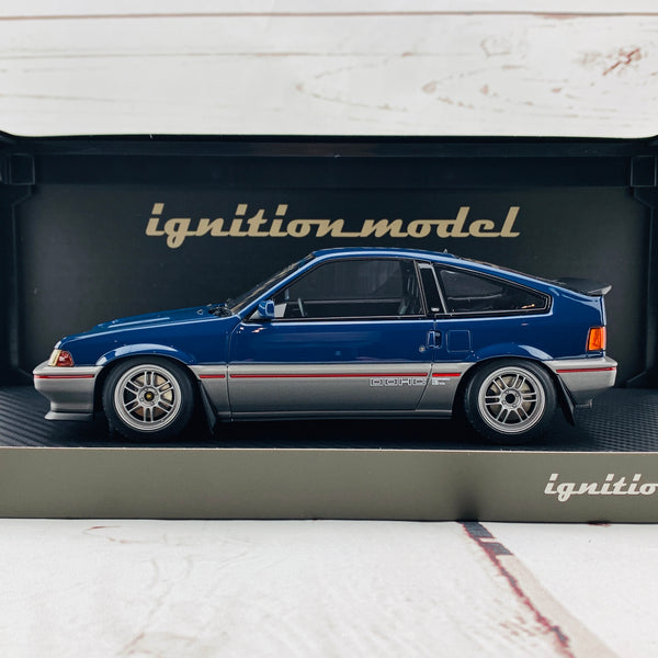 Ignition Model 1/18 Honda BALLADE SPORTS CRX Si (E-AS) Blue/Silver IG1628
