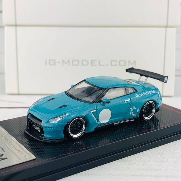 Ignition Model 1/64 Pandem R35 GTR Turquoise Blue 1401