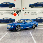 MINI GT 1/64 Bentley Continental GT Sequin Blue MGT00094-R