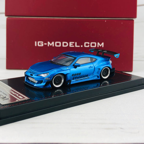 Ignition Model 1/64 Pandem Toyota 86 V3 Blue Metallic 1403