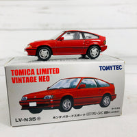 Tomica Limited Vintage Neo TOMYTEC LV-N35 Honda BALLADE SPORTS CRX Si (1985) Red