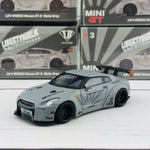 MINI GT 1/64 LIBERTYWALK LB★WORKS Nissan GTR (R35) Matte Grey - RHD MGT000003-R