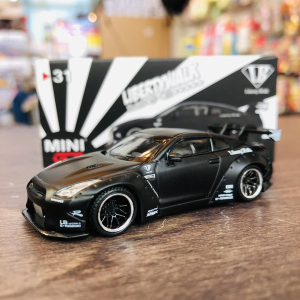 MINI GT LIBERTYWALK LB★WORKS Nissan GTR (R35) Matte Black LHD (USA Exclusive) MGT00031-MJ