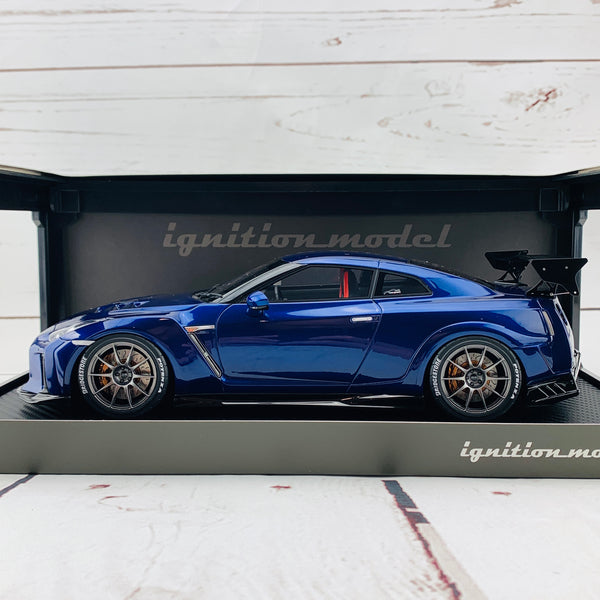 Ignition Model 1/18 TOP SECRET Nissan GTR R35 Blue Metallic IG1535
